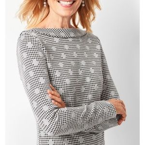 Jacquard Dot Houndstooth Top Size M